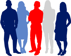 Icon: five people standing